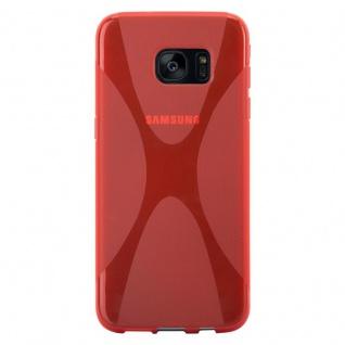 Cadorabo Hülle für Samsung Galaxy S7 EDGE in INFERNO ROT ? Handyhülle aus flexiblem TPU Silikon ? Silikonhülle Schutzhülle Ultra Slim Soft Back Cover Case Bumper