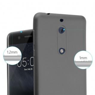 Cadorabo Hülle für Nokia 5 2017 in METALLIC GRAU - Handyhülle aus flexiblem TPU Silikon - Silikonhülle Schutzhülle Ultra Slim Soft Back Cover Case Bumper - Vorschau 5
