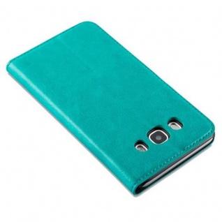 Cadorabo Hülle für Samsung Galaxy J5 2016 in PETROL TÜRKIS - Handyhülle mit Magnetverschluss, Standfunktion und Kartenfach - Case Cover Schutzhülle Etui Tasche Book Klapp Style - Vorschau 5