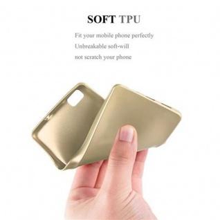 Cadorabo Hülle für Huawei P8 LITE 2015 in METALLIC GOLD - Handyhülle aus flexiblem TPU Silikon - Silikonhülle Schutzhülle Ultra Slim Soft Back Cover Case Bumper - Vorschau 5