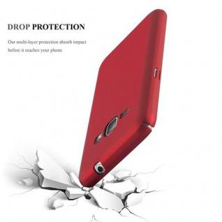 Cadorabo Hülle für Samsung Galaxy J1 2016 in METALL ROT ? Hardcase Handyhülle aus Plastik gegen Kratzer und Stöße ? Schutzhülle Bumper Ultra Slim Back Case Hard Cover - Vorschau 3