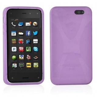 Cadorabo Hülle für Amazon FirePhone in FLIEDER VIOLETT - Handyhülle aus flexiblem TPU Silikon - Silikonhülle Schutzhülle Ultra Slim Soft Back Cover Case Bumper