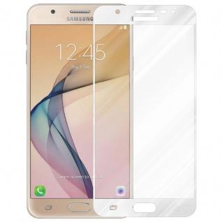 Cadorabo Vollbild Panzer Folie für Samsung Galaxy J5 PRIME / ON5 2016 - Schutzfolie in TRANSPARENT mit WEISS - Gehärtetes (Tempered) Display-Schutzglas in 9H Härte mit 3D Touch Kompatibilität - Vorschau 2
