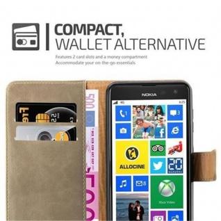 Cadorabo Hülle für Nokia Lumia 625 in CAPPUCCINO BRAUN ? Handyhülle mit Magnetverschluss, Standfunktion und Kartenfach ? Case Cover Schutzhülle Etui Tasche Book Klapp Style - Vorschau 3