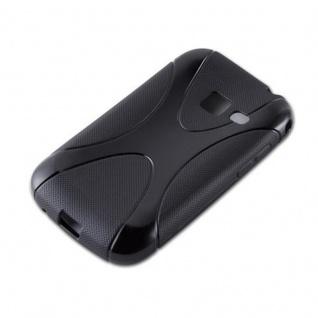 Cadorabo Hülle für Samsung Galaxy ACE DUOS in OXID SCHWARZ ? Handyhülle aus flexiblem TPU Silikon ? Silikonhülle Schutzhülle Ultra Slim Soft Back Cover Case Bumper - Vorschau 2