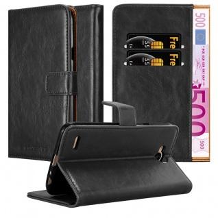 Cadorabo Hülle für LG X Power 2 in GRAPHIT SCHWARZ ? Handyhülle mit Magnetverschluss, Standfunktion und Kartenfach ? Case Cover Schutzhülle Etui Tasche Book Klapp Style
