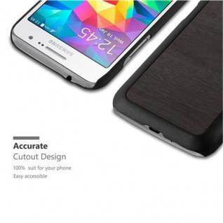 Cadorabo Hülle für Samsung Galaxy CORE PRIME in WOODY SCHWARZ ? Hardcase Handyhülle aus Plastik gegen Kratzer und Stöße ? Schutzhülle Bumper Ultra Slim Back Case Hard Cover - Vorschau 3