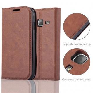 Cadorabo Hülle für Samsung Galaxy TREND LITE in CAPPUCCINO BRAUN - Handyhülle mit Magnetverschluss, Standfunktion und Kartenfach - Case Cover Schutzhülle Etui Tasche Book Klapp Style - Vorschau 2