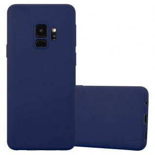 Cadorabo Hülle für Samsung Galaxy S9 in CANDY DUNKEL BLAU - Handyhülle aus flexiblem TPU Silikon - Silikonhülle Schutzhülle Ultra Slim Soft Back Cover Case Bumper
