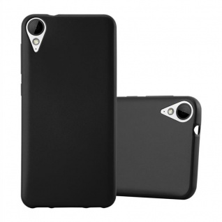 Cadorabo Hülle für HTC 10 LIFESTYLE / DESIRE 825 in METALLIC SCHWARZ - Handyhülle aus flexiblem TPU Silikon - Silikonhülle Schutzhülle Ultra Slim Soft Back Cover Case Bumper