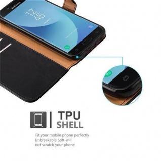 Cadorabo Hülle für Samsung Galaxy J7 2017 in GRAPHIT SCHWARZ ? Handyhülle mit Magnetverschluss, Standfunktion und Kartenfach ? Case Cover Schutzhülle Etui Tasche Book Klapp Style - Vorschau 3
