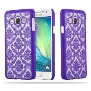 Samsung Galaxy A3 2015 Hardcase Hülle in LILA von Cadorabo - Blumen Paisley Henna Design Schutzhülle ? Handyhülle Bumper Back Case Cover
