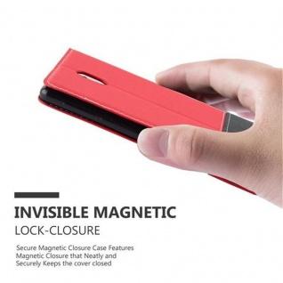 Cadorabo Hülle für Nokia 3 2017 in ROT SCHWARZ ? Handyhülle mit Magnetverschluss, Standfunktion und Kartenfach ? Case Cover Schutzhülle Etui Tasche Book Klapp Style - Vorschau 4