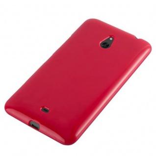 Cadorabo Hülle für Nokia Lumia 1320 in JELLY ROT - Handyhülle aus flexiblem TPU Silikon - Silikonhülle Schutzhülle Ultra Slim Soft Back Cover Case Bumper - Vorschau 3