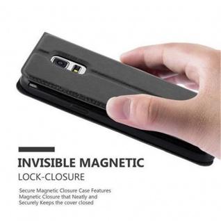 Cadorabo Hülle für Samsung Galaxy S5 / S5 NEO in KOMETEN SCHWARZ - Handyhülle mit Magnetverschluss, Standfunktion und 2 Sichtfenstern - Case Cover Schutzhülle Etui Tasche Book Klapp Style - Vorschau 5
