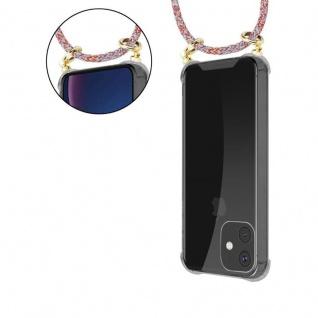 Cadorabo Handy Kette für Apple iPhone 11 (XI) in COLORFUL PARROT - Silikon Necklace Umhänge Hülle mit Gold Ringen, Kordel Band Schnur und abnehmbarem Etui - Schutzhülle - Vorschau 5