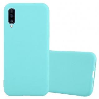 Cadorabo Hülle für Samsung Galaxy A70 in CANDY BLAU - Handyhülle aus flexiblem TPU Silikon - Silikonhülle Schutzhülle Ultra Slim Soft Back Cover Case Bumper