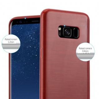Cadorabo Hülle für Samsung Galaxy S8 in ROT - Handyhülle aus flexiblem TPU Silikon - Silikonhülle Schutzhülle Ultra Slim Soft Back Cover Case Bumper - Vorschau 2