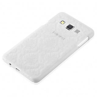 Samsung Galaxy A3 2015 Hardcase Hülle in WEIß von Cadorabo - Blumen Paisley Henna Design Schutzhülle ? Handyhülle Bumper Back Case Cover - Vorschau 3