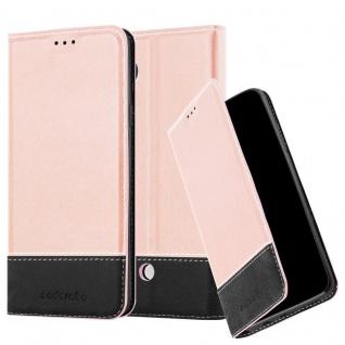 Cadorabo Hülle für LG NEXUS 5 in ROSÉ GOLD SCHWARZ ? Handyhülle mit Magnetverschluss, Standfunktion und Kartenfach ? Case Cover Schutzhülle Etui Tasche Book Klapp Style