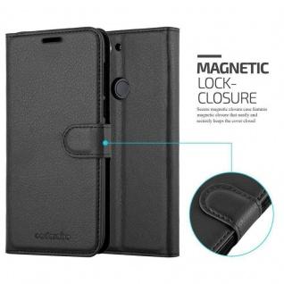 Cadorabo Hülle für HTC Desire 12 PLUS in PHANTOM SCHWARZ - Handyhülle mit Magnetverschluss, Standfunktion und Kartenfach - Case Cover Schutzhülle Etui Tasche Book Klapp Style - Vorschau 2