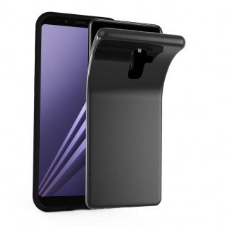 Cadorabo Hülle für Samsung Galaxy A8 2018 in SCHWARZ - Handyhülle aus flexiblem TPU Silikon - Silikonhülle Schutzhülle Ultra Slim Soft Back Cover Case Bumper