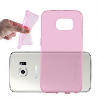 Cadorabo Hülle für Samsung Galaxy S6 EDGE in TRANSPARENT PINK - Handyhülle aus flexiblem TPU Silikon - Silikonhülle Schutzhülle Ultra Slim Soft Back Cover Case Bumper