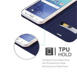 Cadorabo Hülle für Samsung Galaxy J5 2015 in CLASSY DUNKEL BLAU - Handyhülle mit Magnetverschluss, Standfunktion und Kartenfach - Case Cover Schutzhülle Etui Tasche Book Klapp Style - Vorschau 2