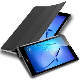 """Cadorabo Tablet Hülle für Huawei MediaPad T3 8 (8, 0"""" Zoll) in SATIN SCHWARZ Ultra Dünne Book Style Schutzhülle OHNE Auto Wake Up und Standfunktion aus Kunstleder"""