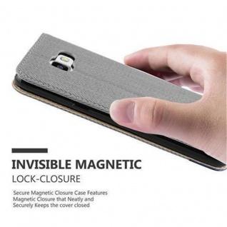 Cadorabo Hülle für Samsung Galaxy A5 2016 - Hülle in GRAU BLAU ? Handyhülle in Bast-Optik mit Kartenfach und Standfunktion - Case Cover Schutzhülle Etui Tasche Book Klapp Style - Vorschau 5