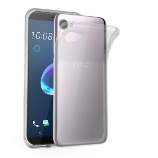 Cadorabo Hülle für HTC Desire 12 in VOLL TRANSPARENT - Handyhülle aus flexiblem TPU Silikon - Silikonhülle Schutzhülle Ultra Slim Soft Back Cover Case Bumper