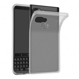 Cadorabo Hülle für Blackberry KEY 2 in VOLL TRANSPARENT - Handyhülle aus flexiblem TPU Silikon - Silikonhülle Schutzhülle Ultra Slim Soft Back Cover Case Bumper