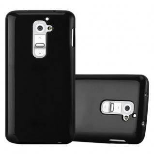 Cadorabo Hülle für LG G2 in JELLY SCHWARZ ? Handyhülle aus flexiblem TPU Silikon ? Silikonhülle Schutzhülle Ultra Slim Soft Back Cover Case Bumper