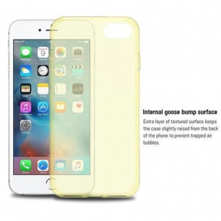 Cadorabo Hülle für Apple iPhone 7 / iPhone 7S / iPhone 8 in TRANSPARENT GOLD - Handyhülle aus flexiblem TPU Silikon - Silikonhülle Schutzhülle Ultra Slim Soft Back Cover Case Bumper - Vorschau 4