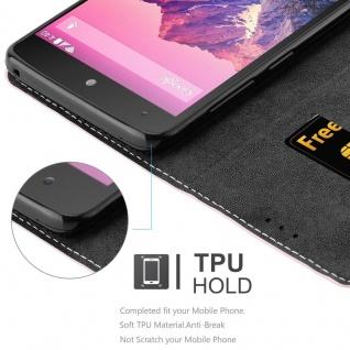 Cadorabo Hülle für LG NEXUS 5 in ROSÉ GOLD SCHWARZ ? Handyhülle mit Magnetverschluss, Standfunktion und Kartenfach ? Case Cover Schutzhülle Etui Tasche Book Klapp Style - Vorschau 4