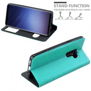 Cadorabo Hülle für Samsung Galaxy S9 PLUS in MINT TÜRKIS ? Handyhülle mit Magnetverschluss, Standfunktion und 2 Sichtfenstern ? Case Cover Schutzhülle Etui Tasche Book Klapp Style - Vorschau 4