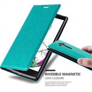 Cadorabo Hülle für LG G4 / G4 PLUS in PETROL TÜRKIS - Handyhülle mit Magnetverschluss, Standfunktion und Kartenfach - Case Cover Schutzhülle Etui Tasche Book Klapp Style