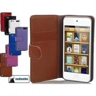 Cadorabo Hülle für Apple iPod TOUCH 5 in KAKAO BRAUN ? Handyhülle aus glattem Kunstleder mit Standfunktion und Kartenfach ? Case Cover Schutzhülle Etui Tasche Book Klapp Style