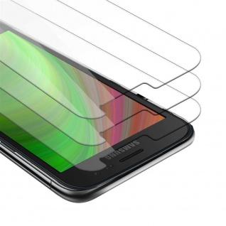 Cadorabo 3x Panzer Folie für Samsung Galaxy XCover 4 / XCover 4S Schutzfolie in KRISTALL KLAR 3er Pack Gehärtetes (Tempered) Display-Schutzglas in 9H Härte mit 3D Touch Kompatibilität