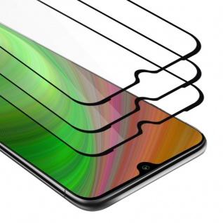 Cadorabo 3x Vollbild Panzer Folie für Xiaomi Mi A3 - Schutzfolie in TRANSPARENT mit SCHWARZ - 3er Pack Gehärtetes (Tempered) Display-Schutzglas in 9H Härte mit 3D Touch