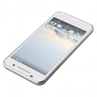 Cadorabo Hülle für HTC ONE A9 in METALLIC SILBER - Handyhülle aus flexiblem TPU Silikon - Silikonhülle Schutzhülle Ultra Slim Soft Back Cover Case Bumper - Vorschau 3