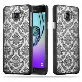 Samsung Galaxy A3 2016 Hardcase Hülle in SCHWARZ von Cadorabo - Blumen Paisley Henna Design Schutzhülle ? Handyhülle Bumper Back Case Cover