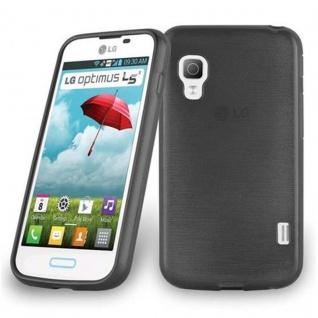 Cadorabo Hülle für LG L5 II (2.Gen 2.SIM) in SCHWARZ - Handyhülle aus flexiblem TPU Silikon - Silikonhülle Schutzhülle Ultra Slim Soft Back Cover Case Bumper