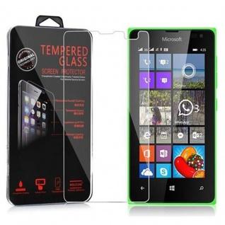 Cadorabo Panzer Folie für Nokia Lumia 435 Schutzfolie in KRISTALL KLAR Gehärtetes (Tempered) Display-Schutzglas in 9H Härte mit 3D Touch Kompatibilität