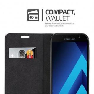 Cadorabo Hülle für Samsung Galaxy A3 2017 in NACHT SCHWARZ - Handyhülle mit Magnetverschluss, Standfunktion und Kartenfach - Case Cover Schutzhülle Etui Tasche Book Klapp Style - Vorschau 2