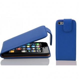 Cadorabo Hülle für Apple iPhone 5C in KÖNIGS BLAU - Handyhülle im Flip Design aus strukturiertem Kunstleder - Case Cover Schutzhülle Etui Tasche Book Klapp Style