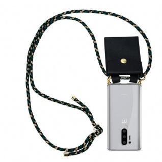 Cadorabo Handy Kette für Oneplus 8 pro in CAMOUFLAGE Silikon Necklace Umhänge Hülle mit Gold Ringen, Kordel Band Schnur und abnehmbarem Etui Schutzhülle