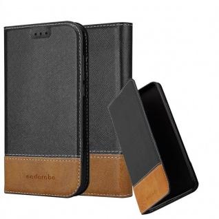 Cadorabo Hülle für Sony Xperia XZ / XZs in SCHWARZ BRAUN - Handyhülle mit Magnetverschluss, Standfunktion und Kartenfach - Case Cover Schutzhülle Etui Tasche Book Klapp Style
