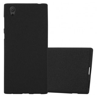 Cadorabo Hülle für Sony Xperia L1 in FROST SCHWARZ - Handyhülle aus flexiblem TPU Silikon - Silikonhülle Schutzhülle Ultra Slim Soft Back Cover Case Bumper