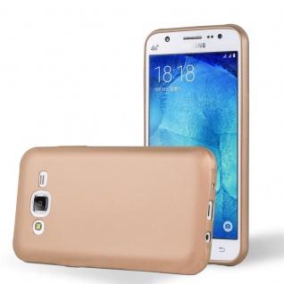 Cadorabo Hülle für Samsung Galaxy J5 2015 in METALLIC ROSE GOLD Handyhülle aus flexiblem TPU Silikon Silikonhülle Schutzhülle Ultra Slim Soft Back Cover Case Bumper